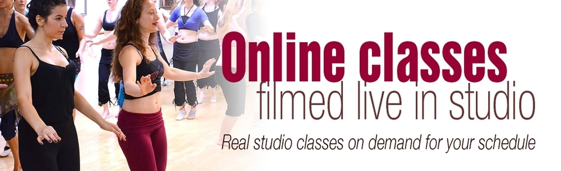 Online belly dancing classes filmed live in studio. Real studio classes on demand to fit your schedule.