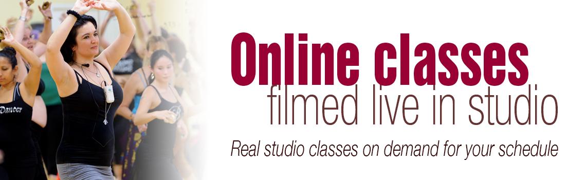 Online belly dancing classes filmed live in studio. Real studio classes on demand for your schedule.